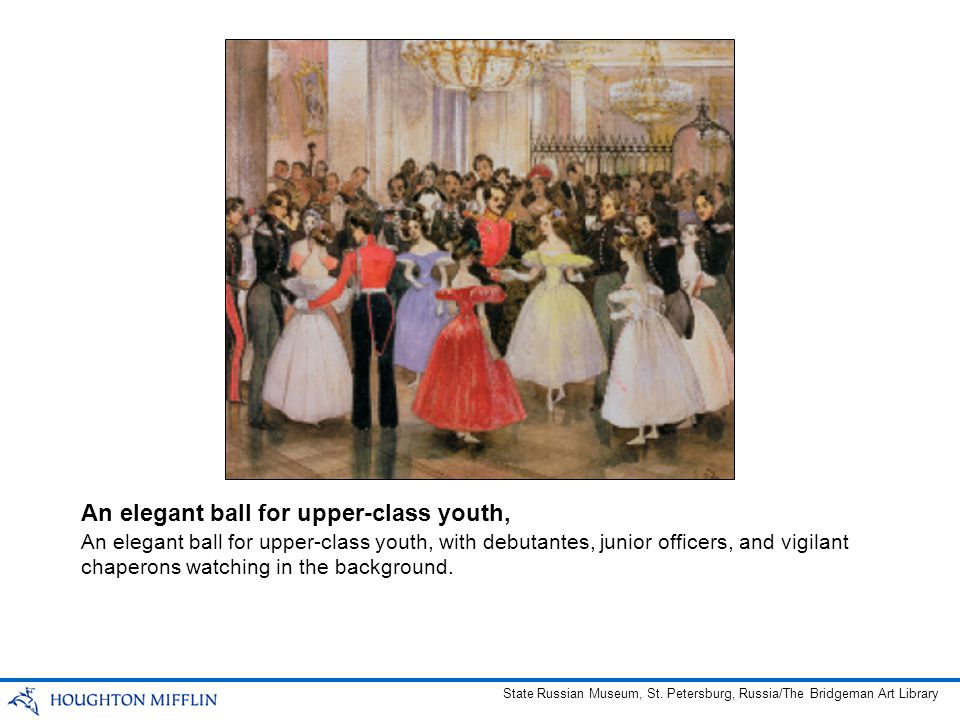 An elegant ball for upper-class youth,