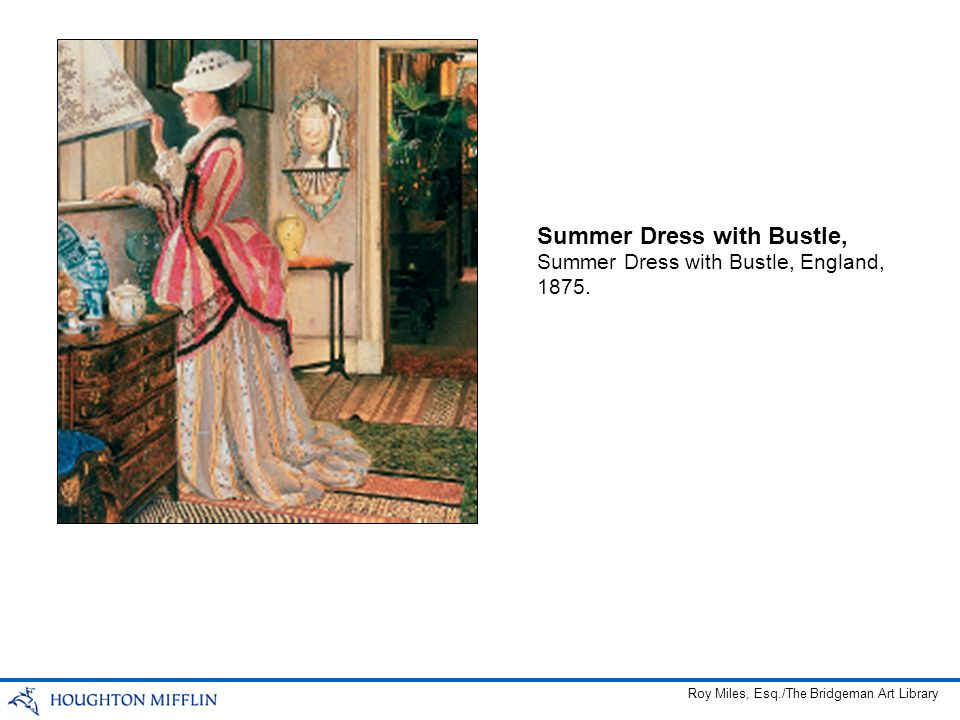 Summer Dress with Bustle,