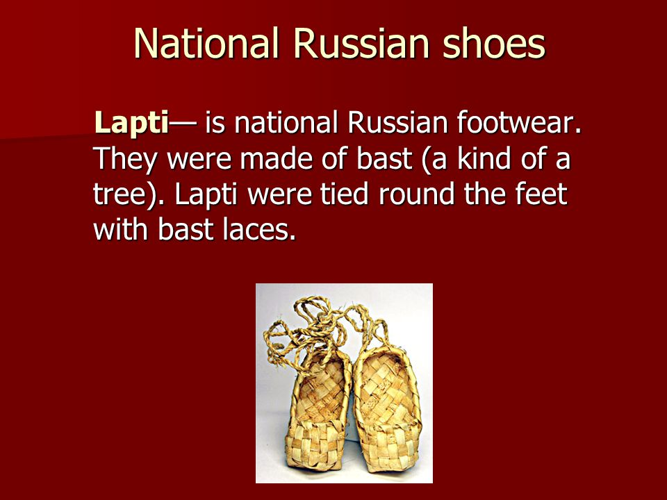 National Russian shoes