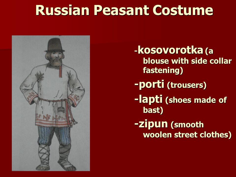 Russian Peasant Costume