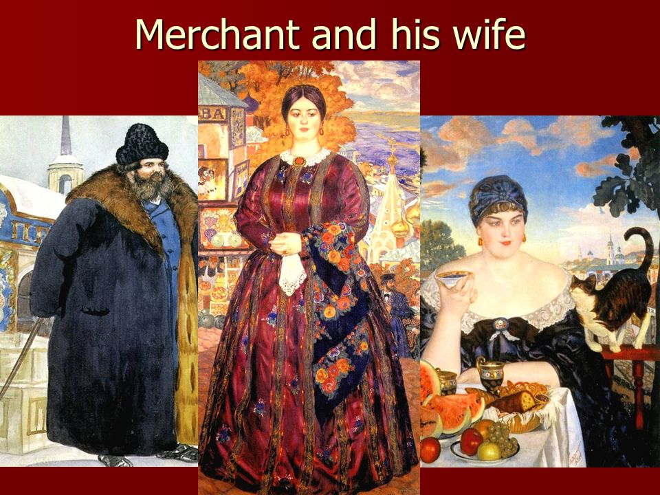 Merchant and his wife