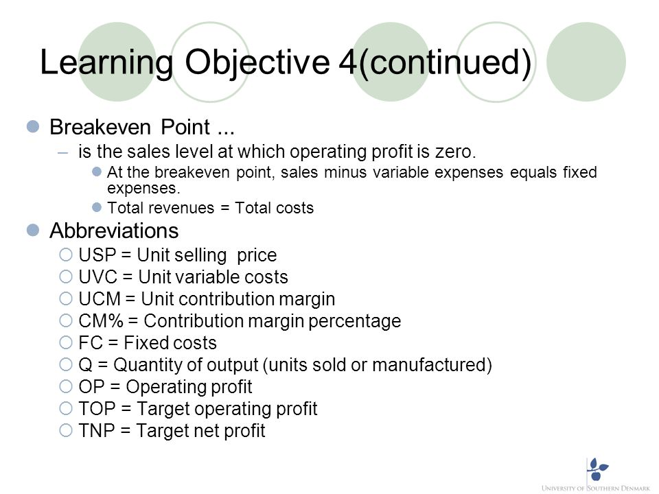 Learning Objective 4(continued)