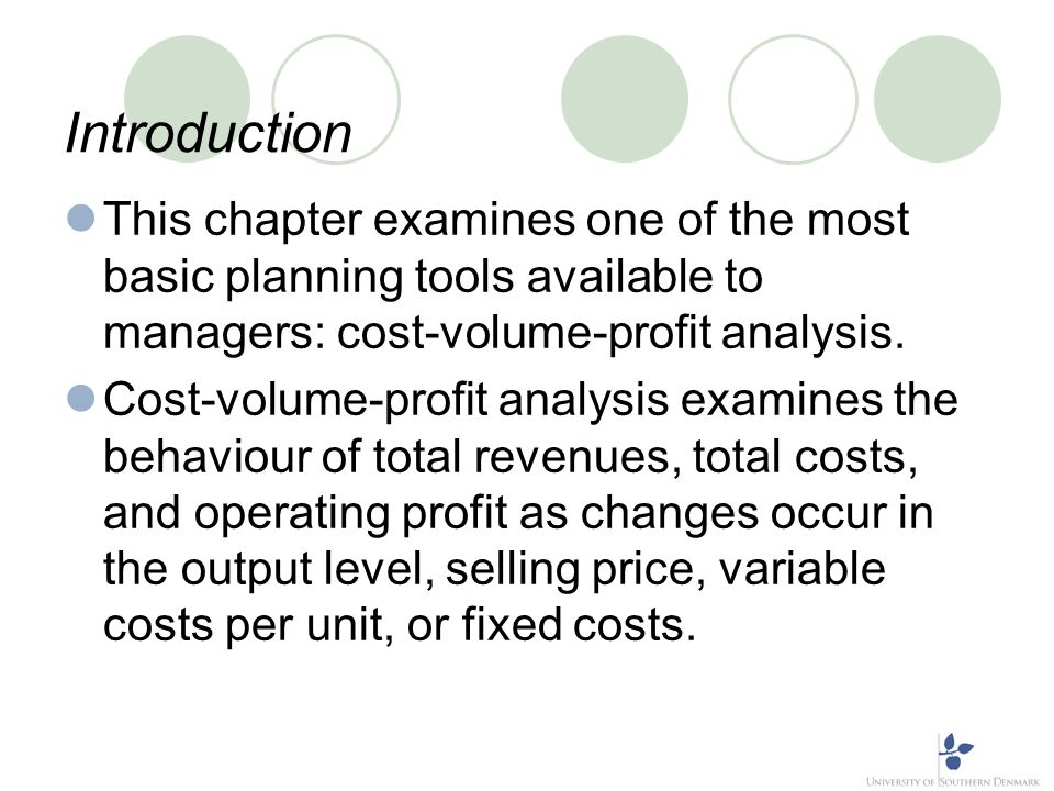 Learning Objectives Distinguish between the general case and a special case of CVP. Explain the relationship between operating profit and net profit.
