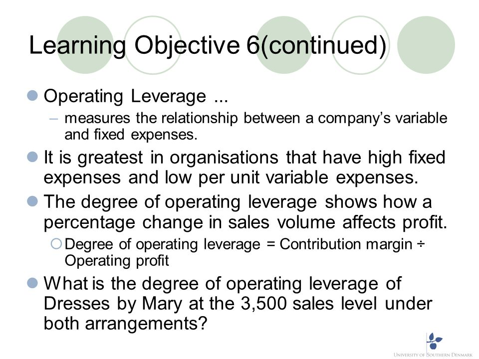 Learning Objective 6(continued)