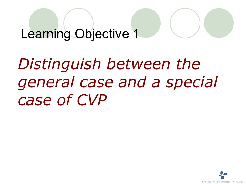 Learning Objective 1(continued)