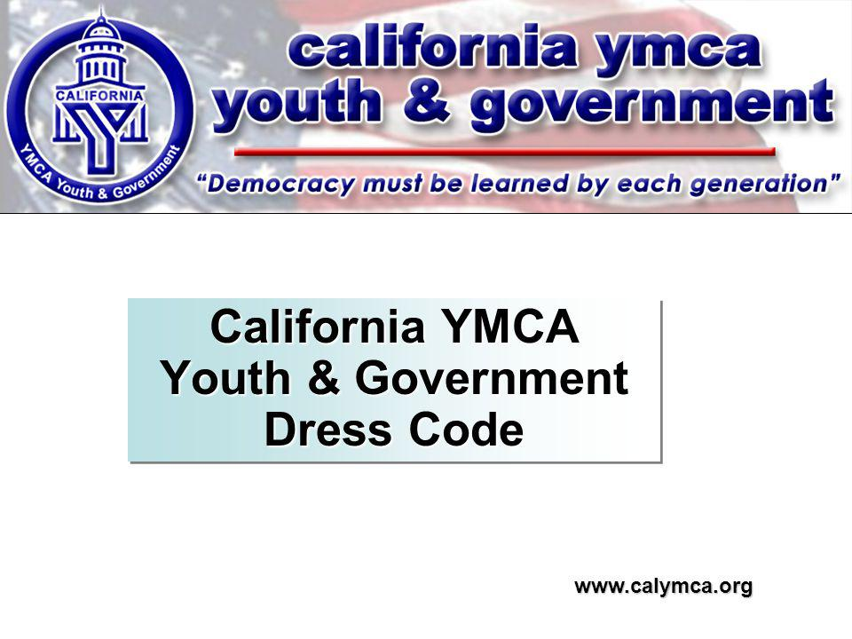 California YMCA Youth & Government Dress Code