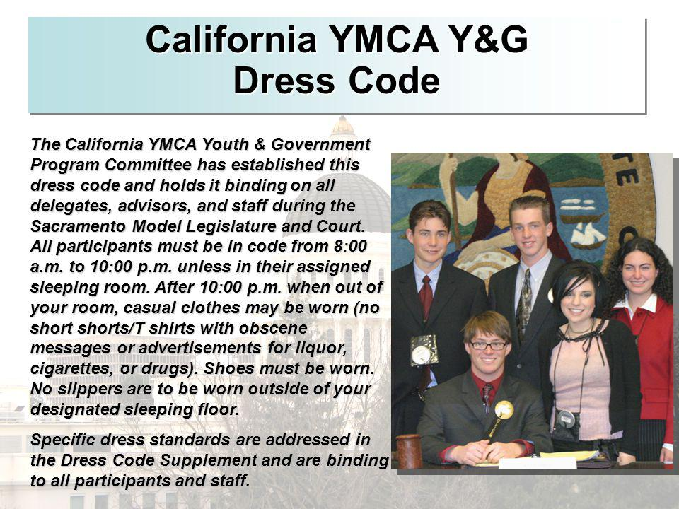 California YMCA Y&G Dress Code