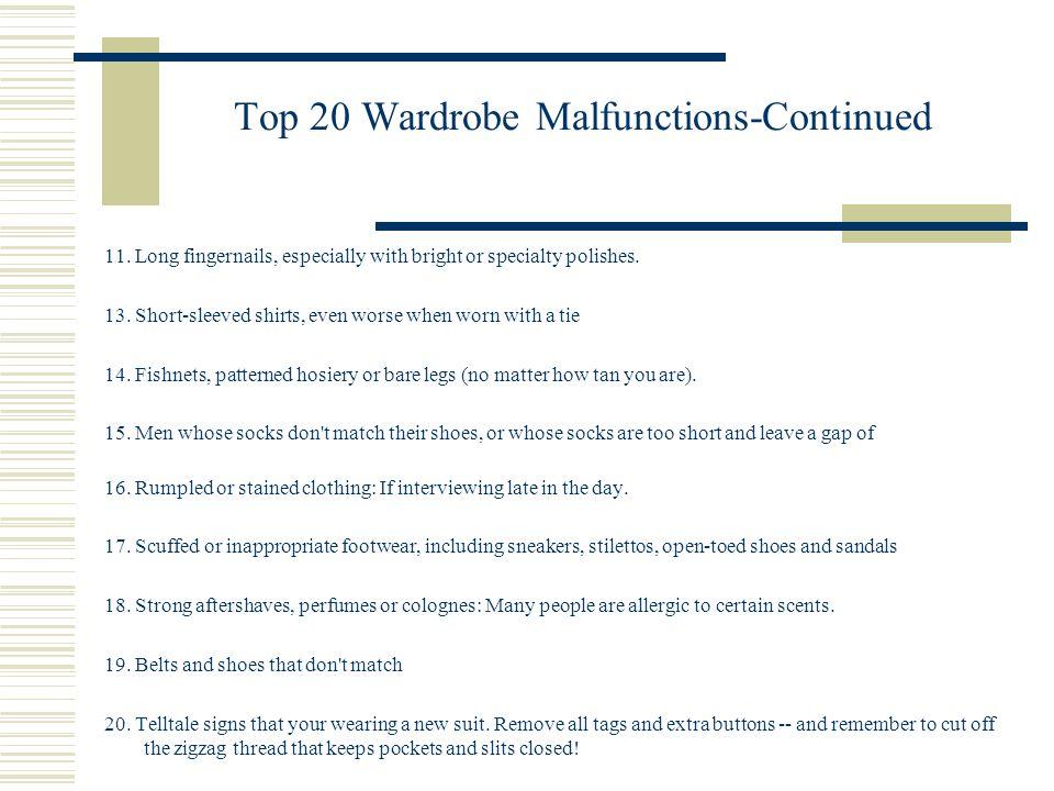 Top 20 Wardrobe Malfunctions-Continued