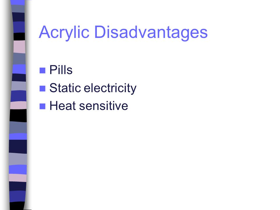 Acrylic Disadvantages