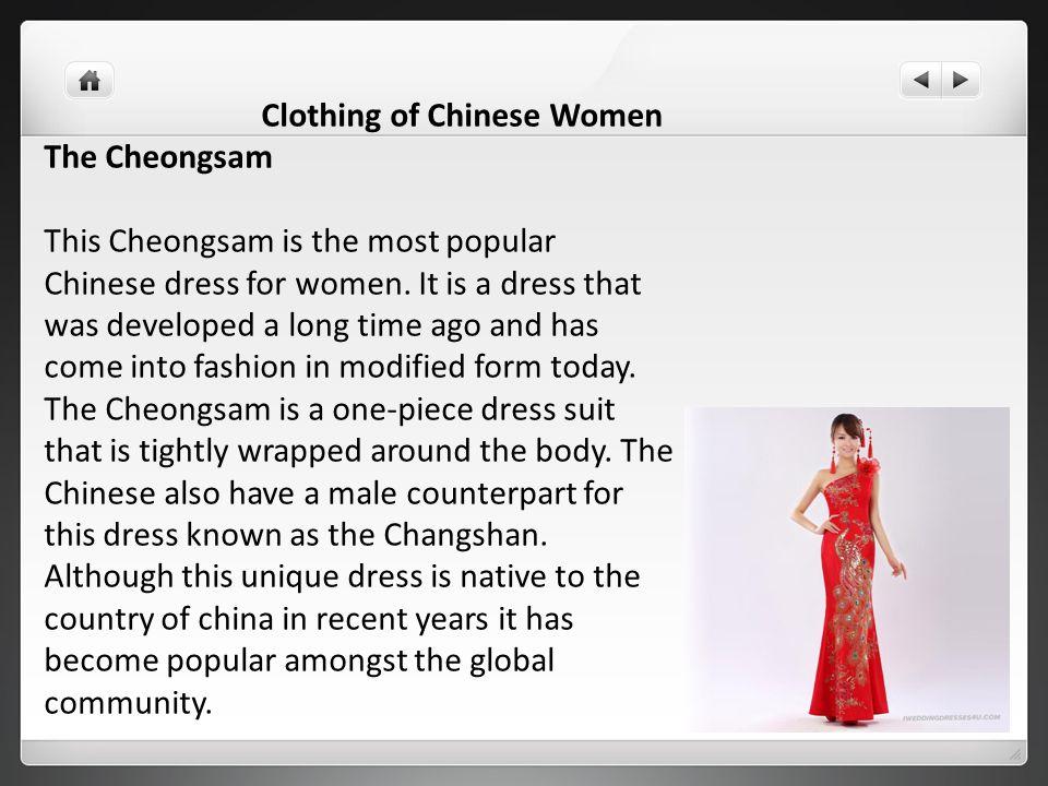 Clothing of Chinese Women