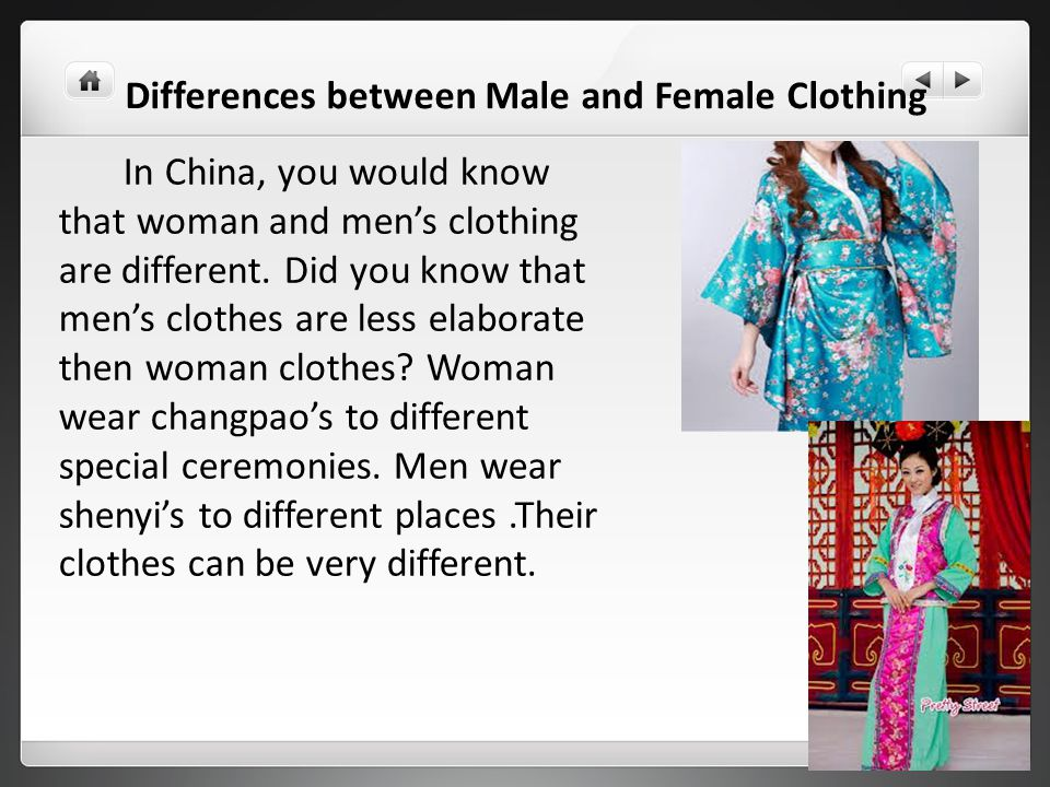 Differences between Male and Female Clothing