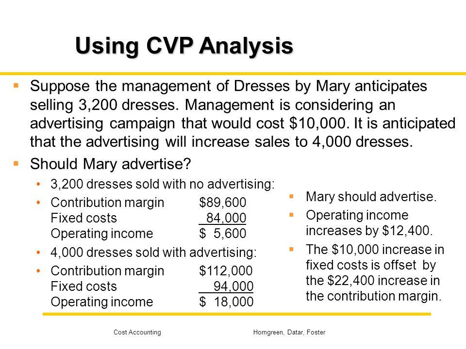 Using CVP Analysis