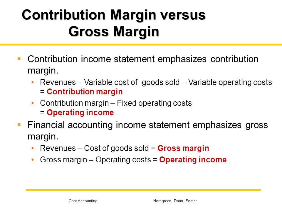 contribution margin income statement Explanation of contribution margin income statement with the help of an example.