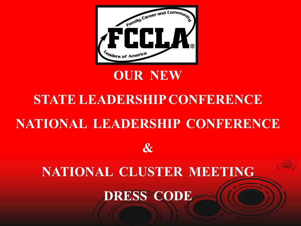 STATE LEADERSHIP CONFERENCE NATIONAL LEADERSHIP CONFERENCE &