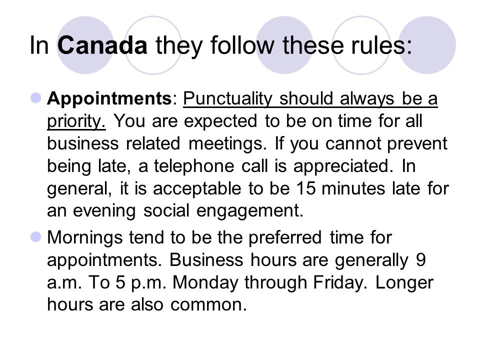 In Canada they follow these rules: