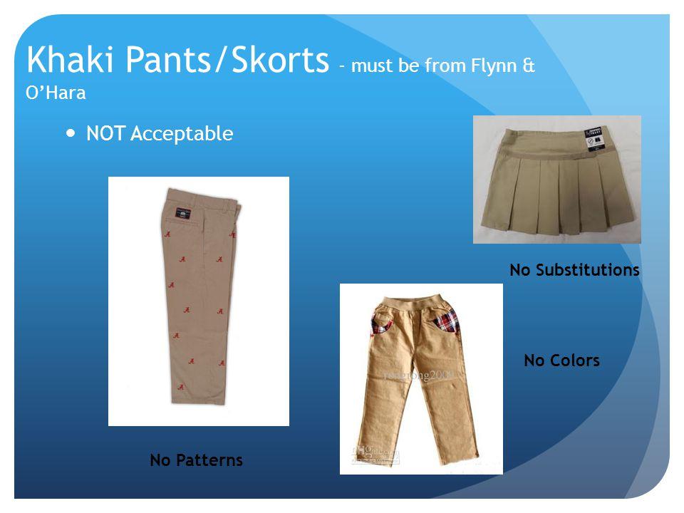 Khaki Pants/Skorts - must be from Flynn & O'Hara