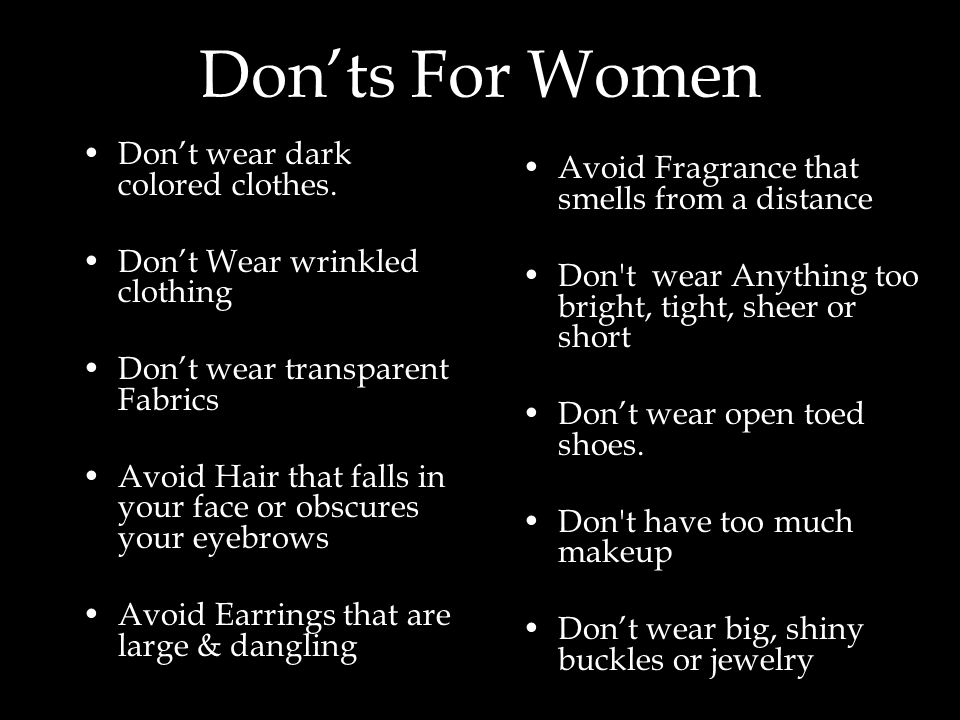 Don'ts For Women Avoid Fragrance that smells from a distance