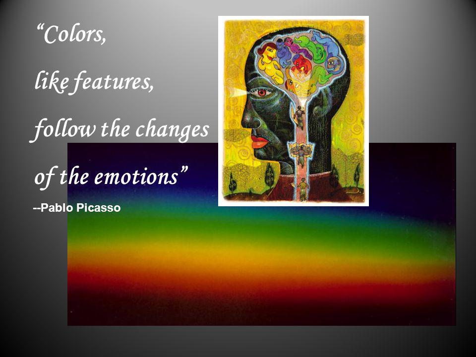Colors, like features, follow the changes of the emotions