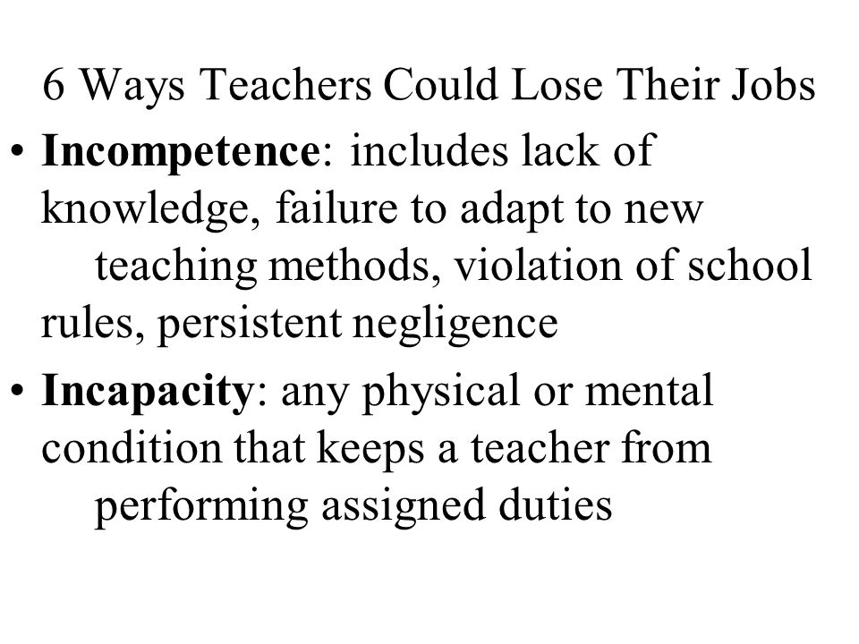 6 Ways Teachers Could Lose Their Jobs
