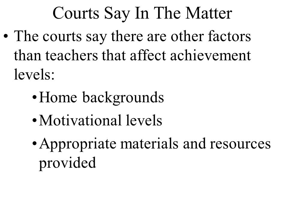 Courts Say In The Matter
