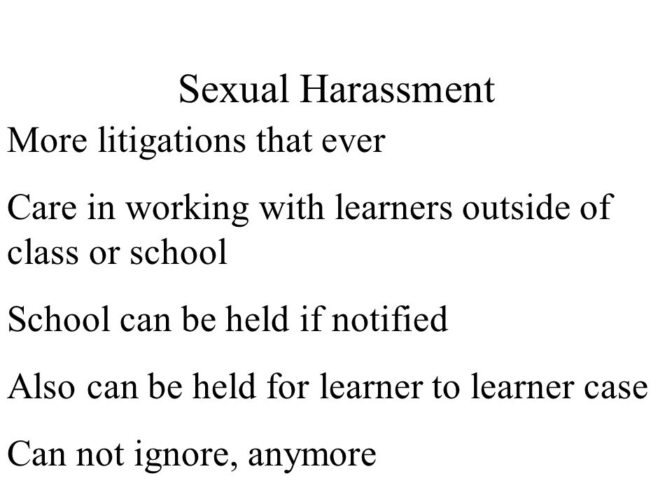 Sexual Harassment More litigations that ever
