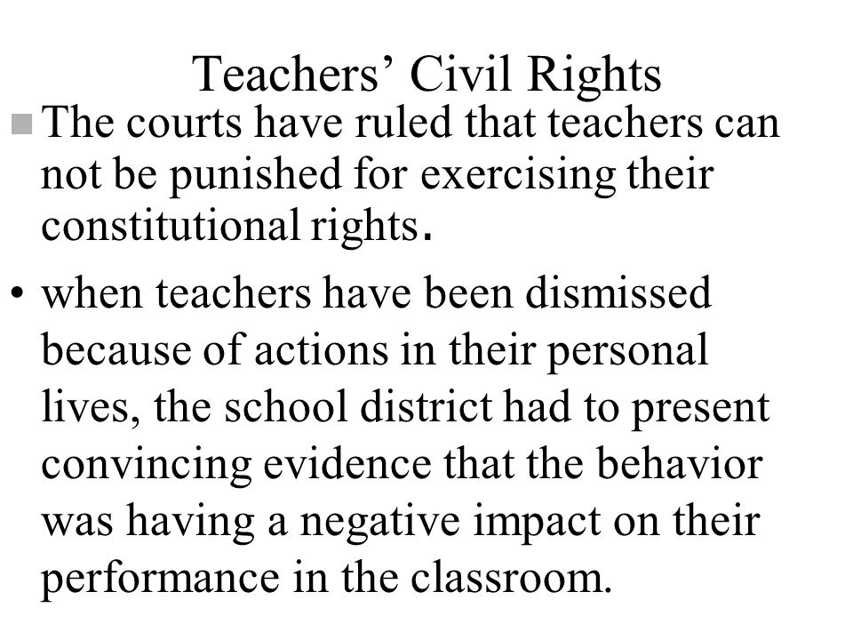 Teachers' Civil Rights