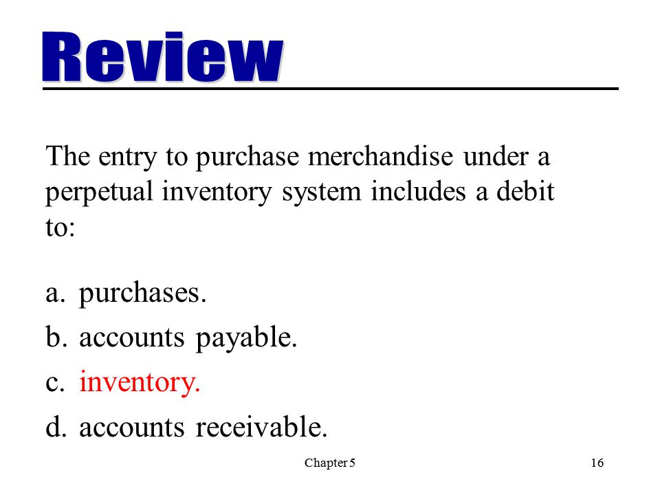Review purchases. accounts payable. inventory. accounts receivable.