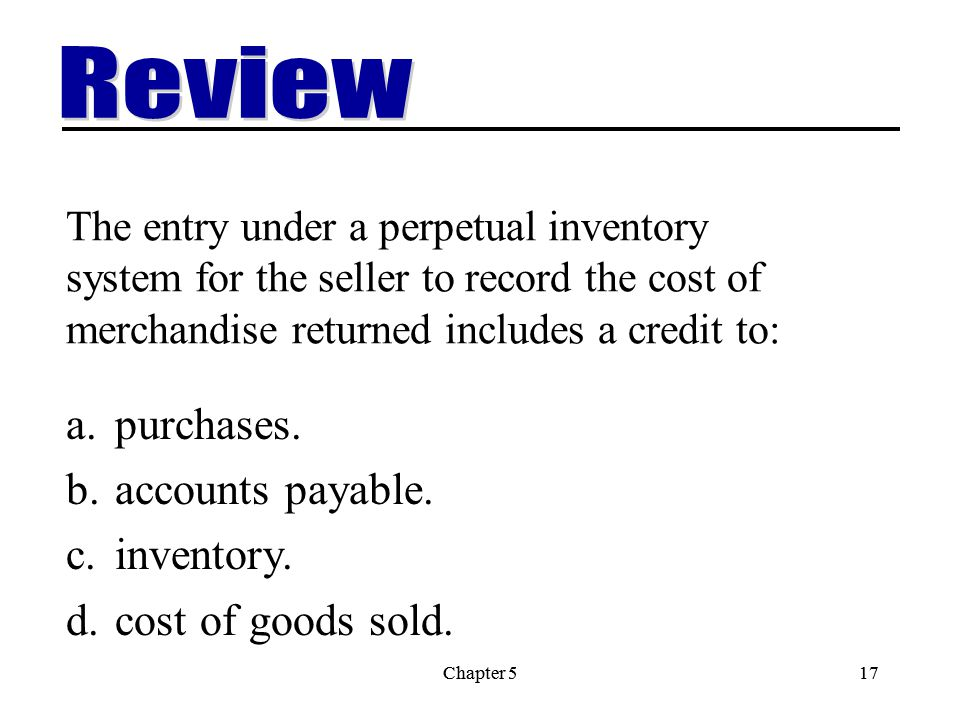 Review purchases. accounts payable. inventory. cost of goods sold.