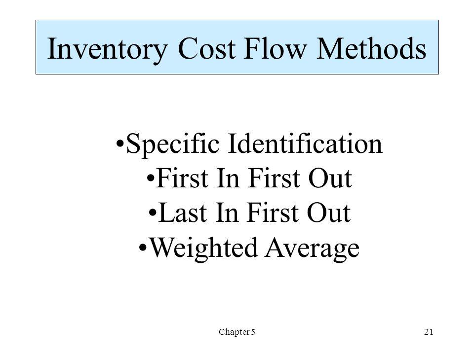 Inventory Cost Flow Methods