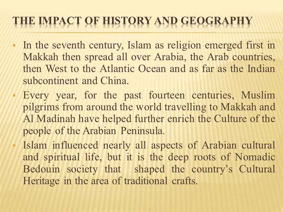 The Impact of History and Geography