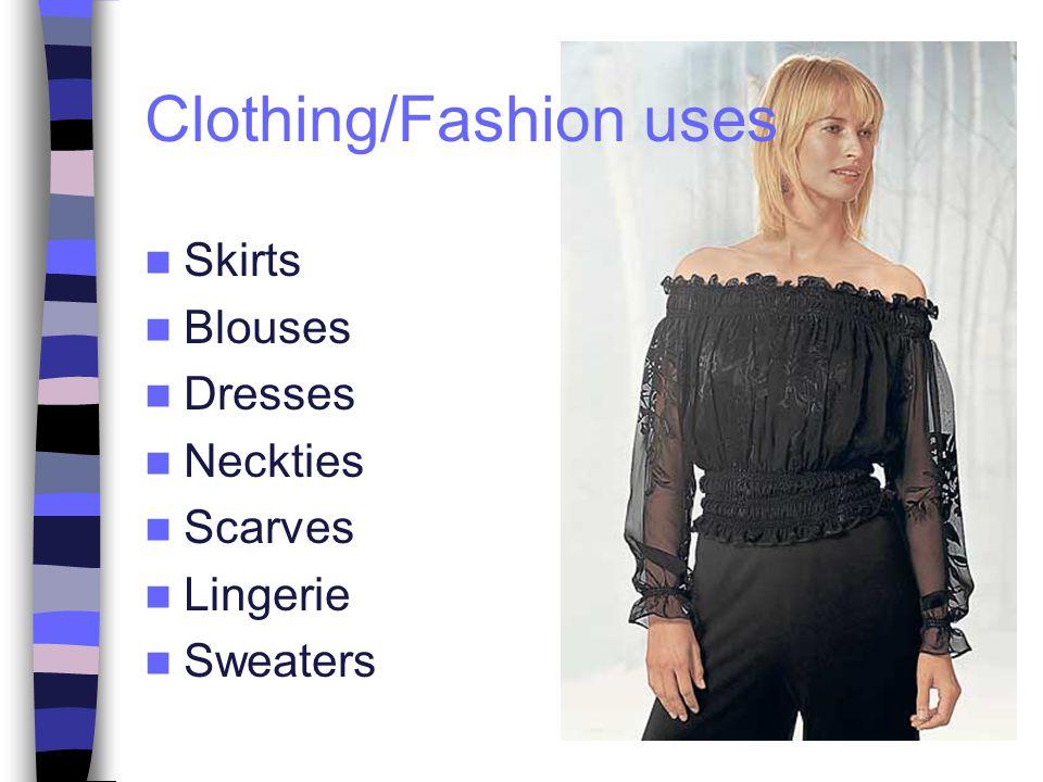 Clothing/Fashion uses