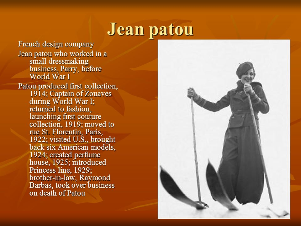 Jean patou French design company