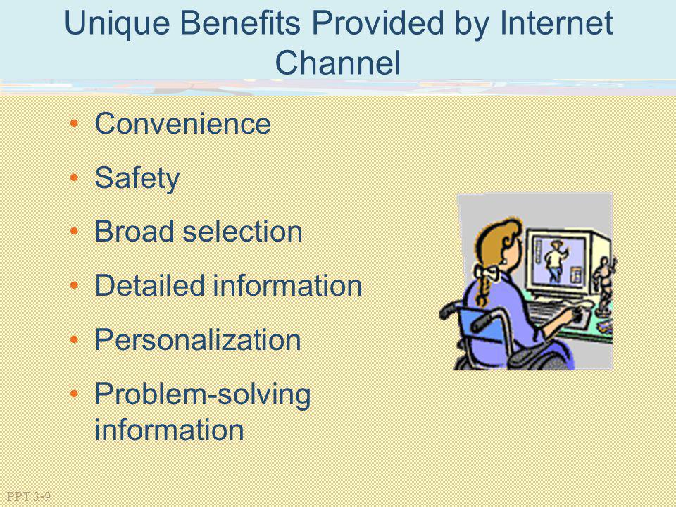 Unique Benefits Provided by Internet Channel
