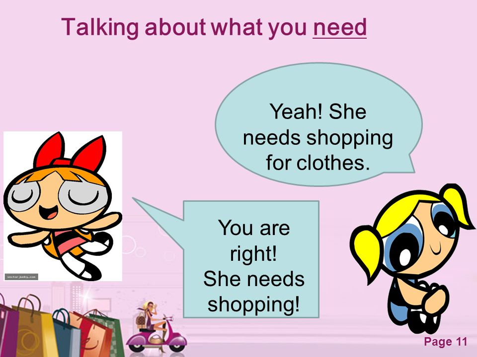 Talking about what you need