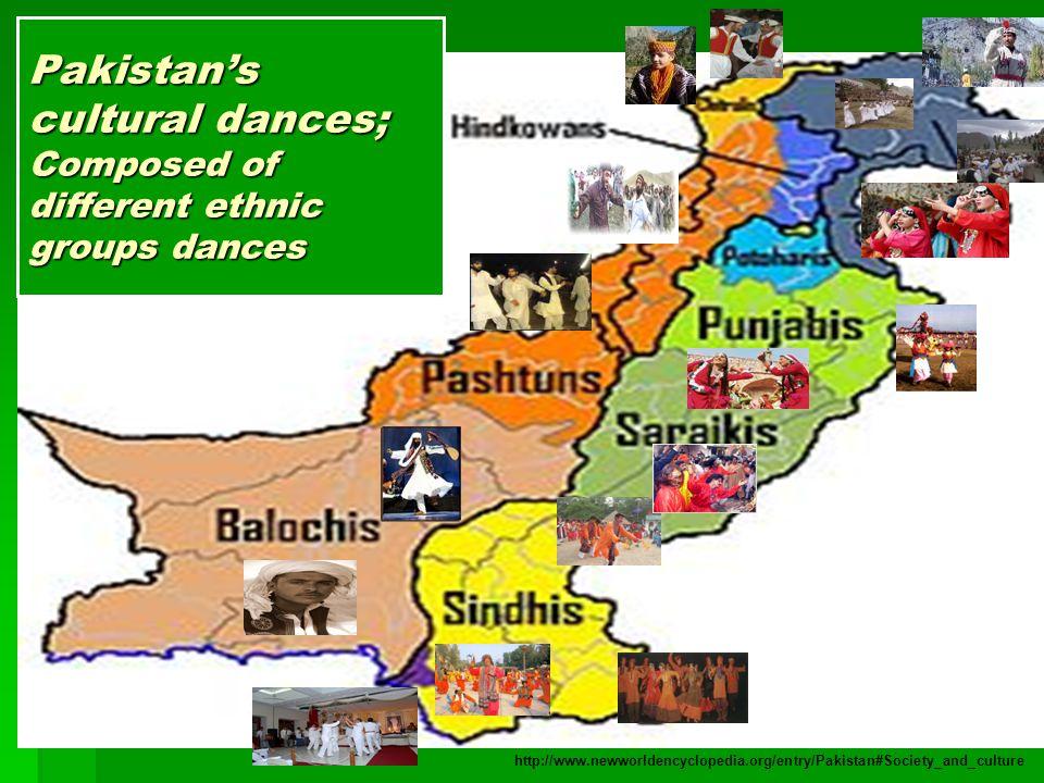 Pakistan's cultural dances; Composed of different ethnic groups dances