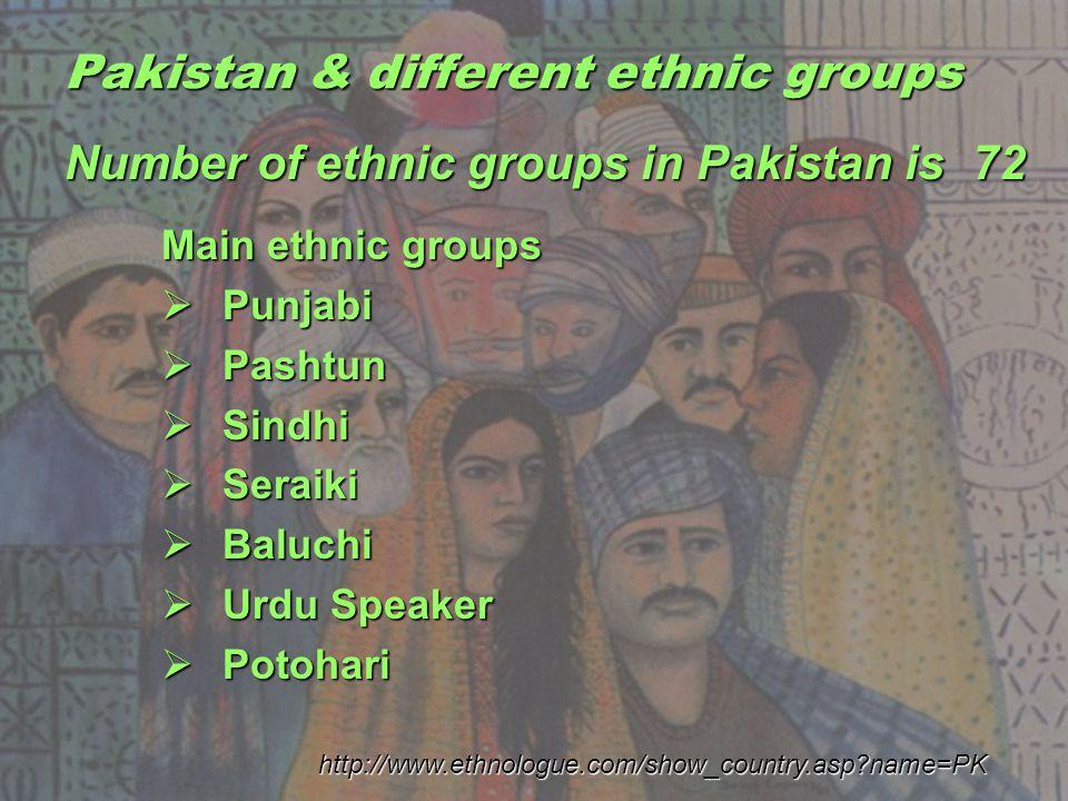 Pakistan & different ethnic groups