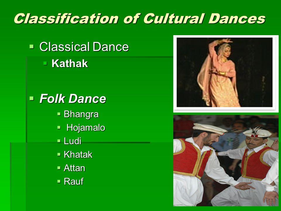 Classification of Cultural Dances