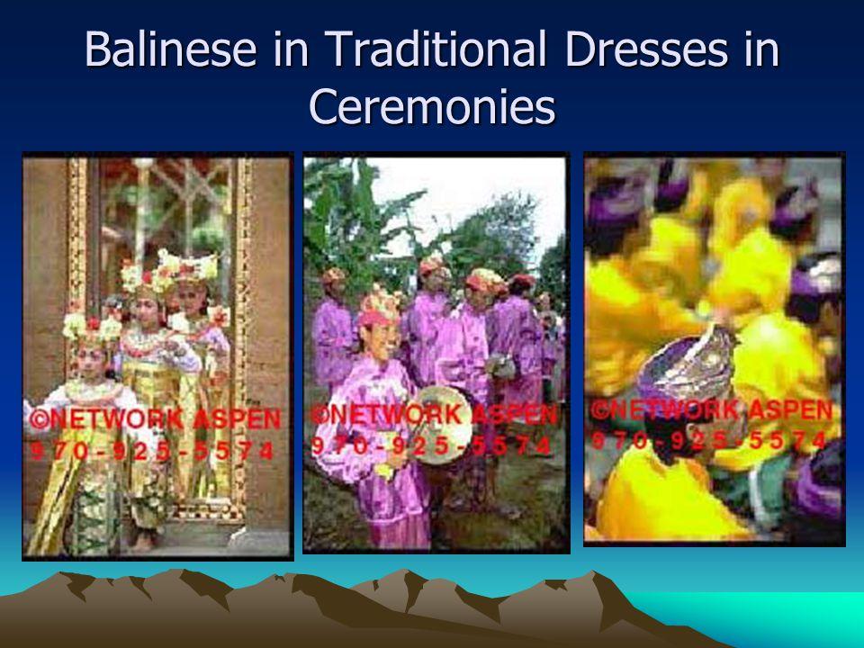 Balinese in Traditional Dresses in Ceremonies