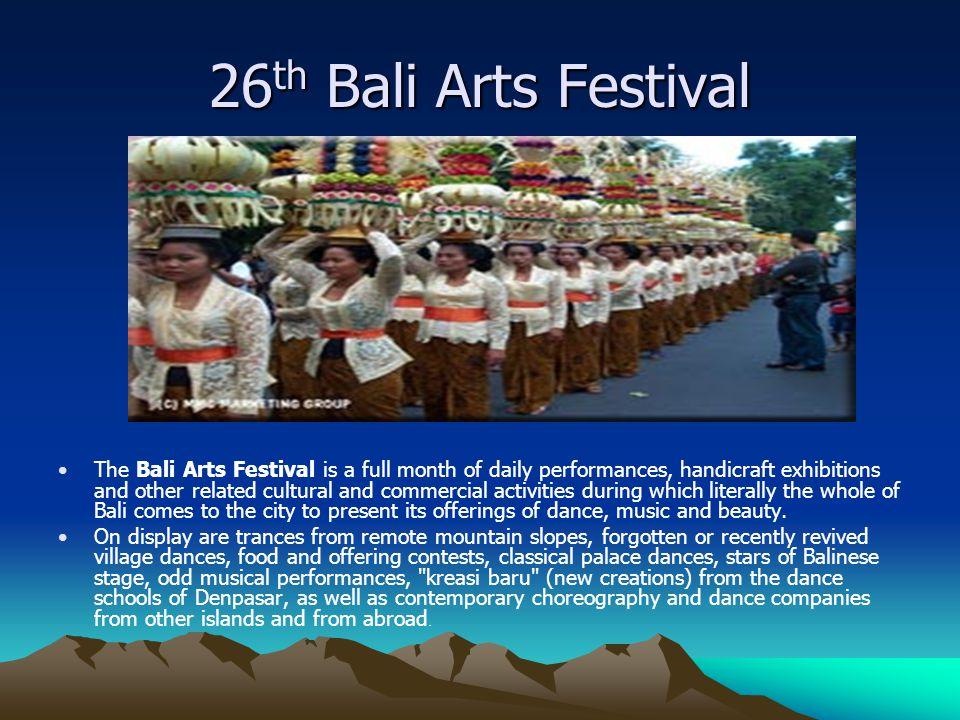 26th Bali Arts Festival