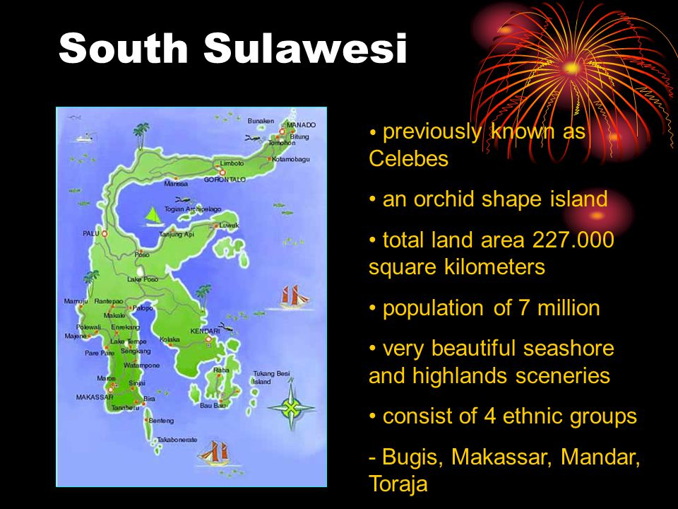 South Sulawesi an orchid shape island