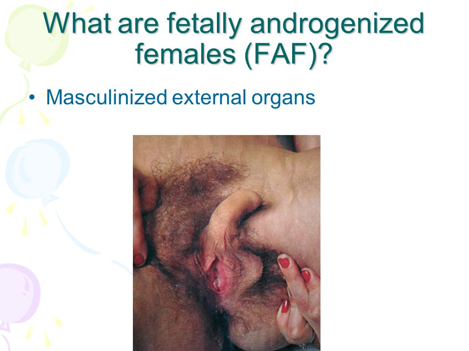 What are fetally androgenized females (FAF)