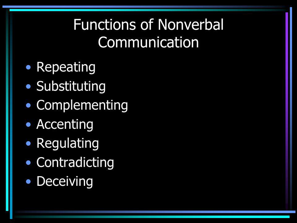 Functions of Nonverbal Communication