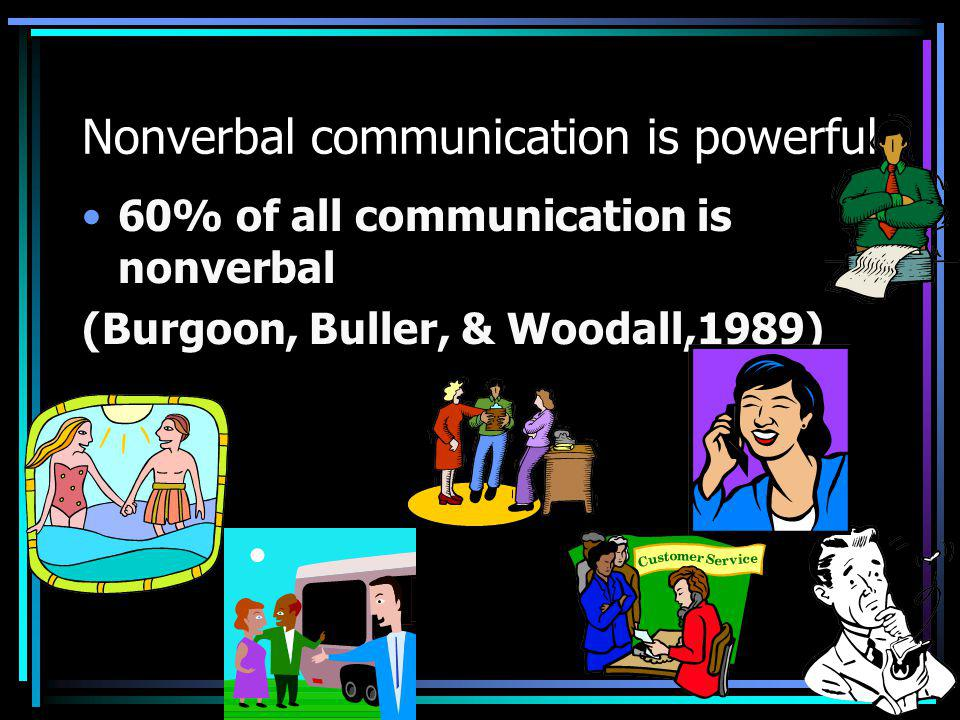 Nonverbal communication is powerful