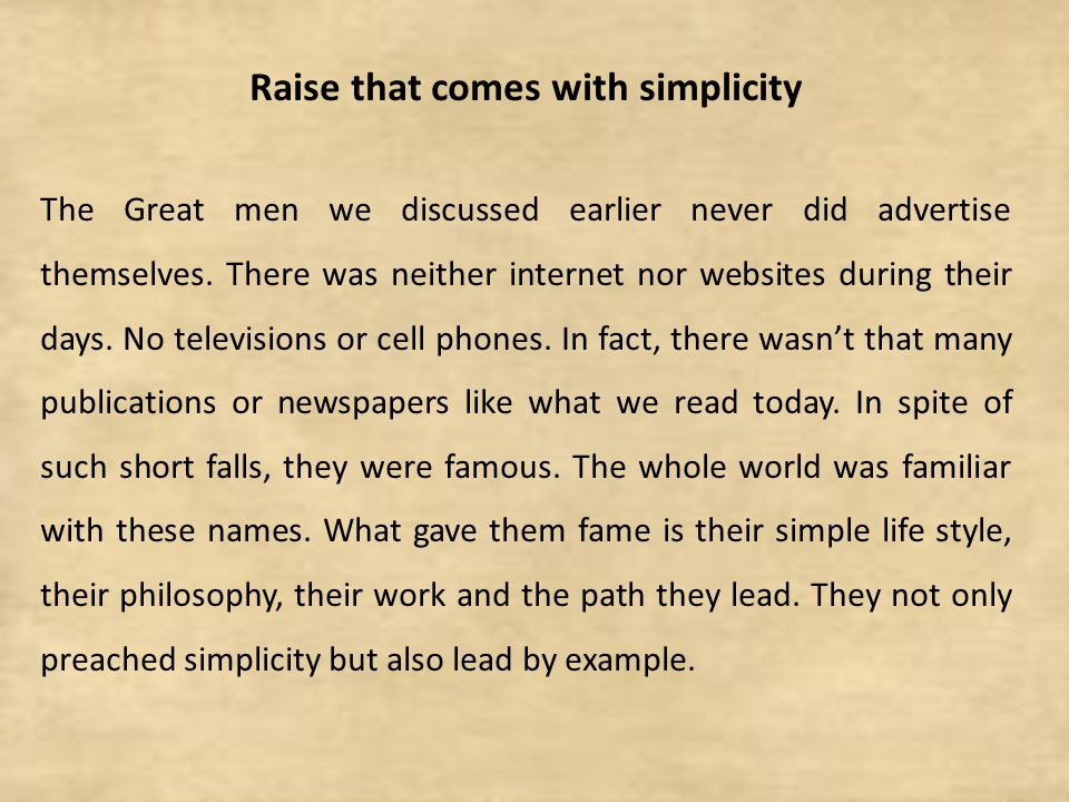 Raise that comes with simplicity
