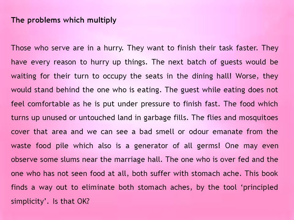 The problems which multiply