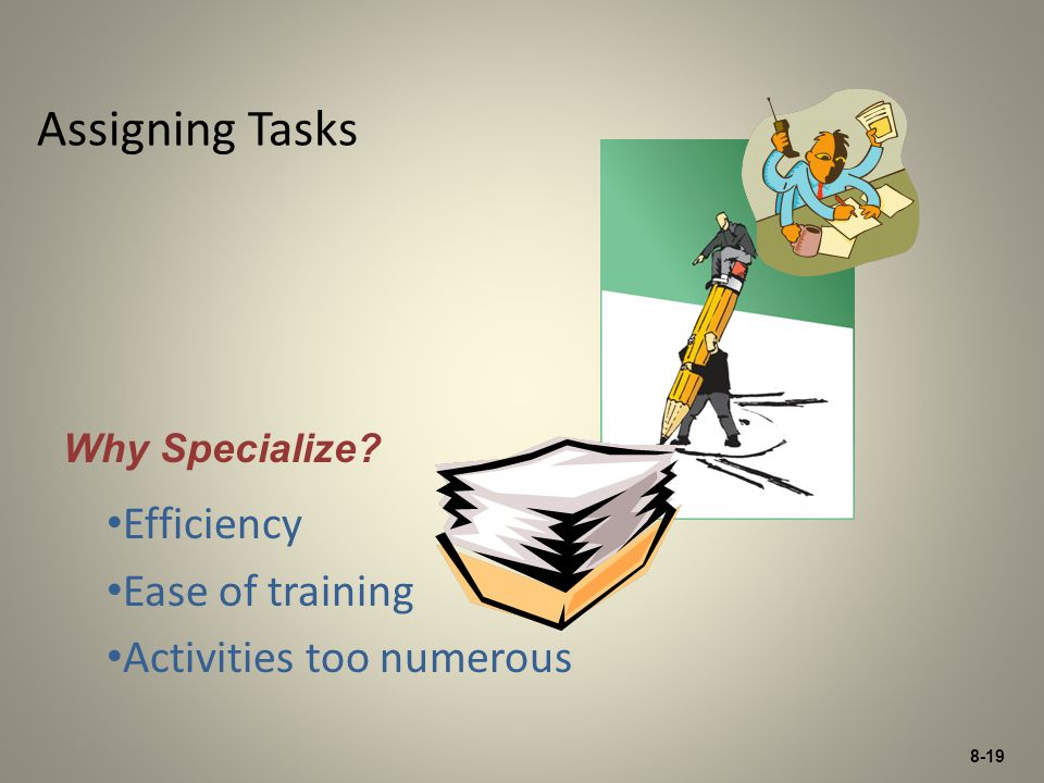 Efficiency Ease of training Activities too numerous
