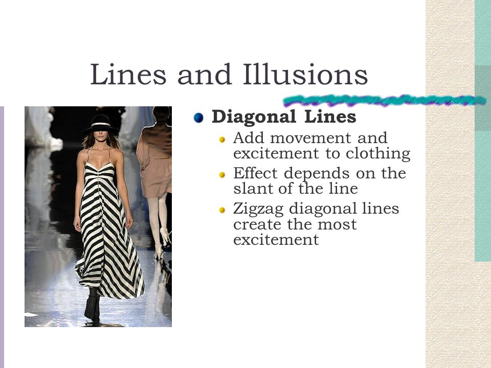 Lines and Illusions Diagonal Lines