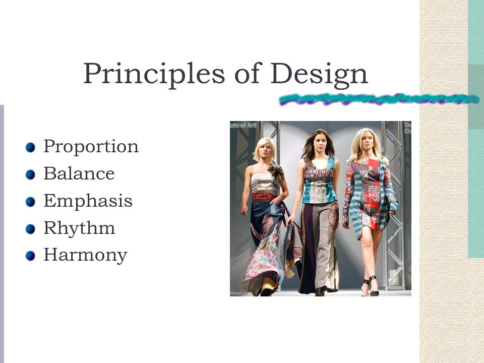 Principles of Design Proportion Balance Emphasis Rhythm Harmony