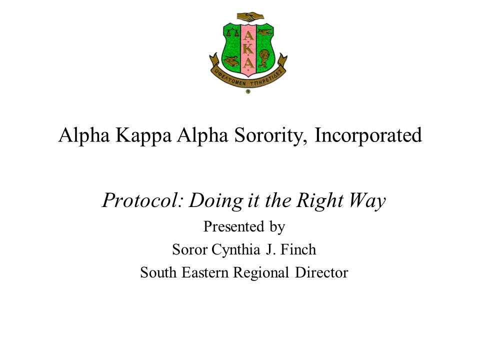 Alpha Kappa Alpha Sorority Incorporated Ppt Video Online Download