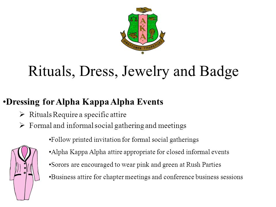 Rituals, Dress, Jewelry and Badge